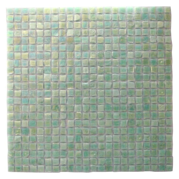 Ecologic 0.37 x 0.37 Glass Mosaic Tile in Green by Abolos