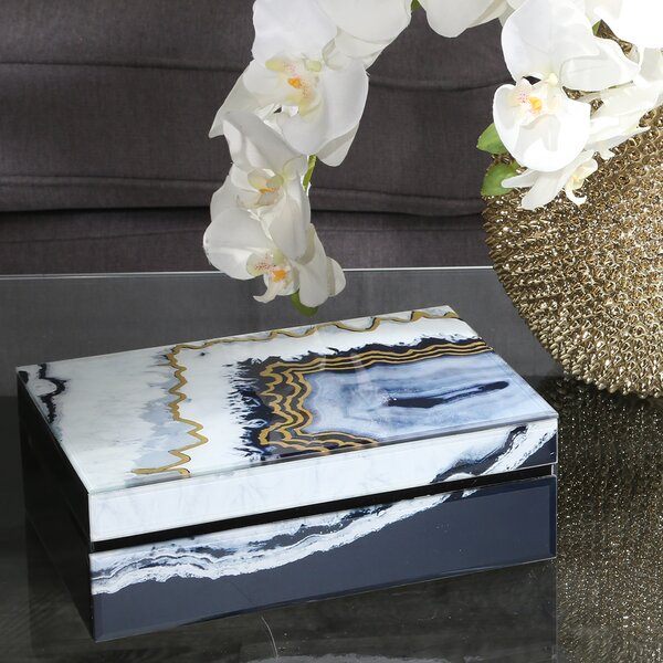 Oakden Glass and Wood Decorative Box by Mercer41