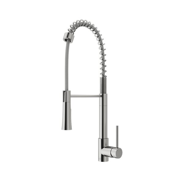 Laurelton Pull-Down Spray Single Handle Kitchen Faucet by VIGO