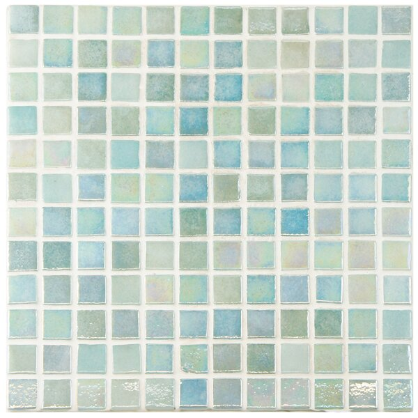 Colgadilla 0.88 x 0.88 Glass Mosaic Tile in Iridescent by EliteTile