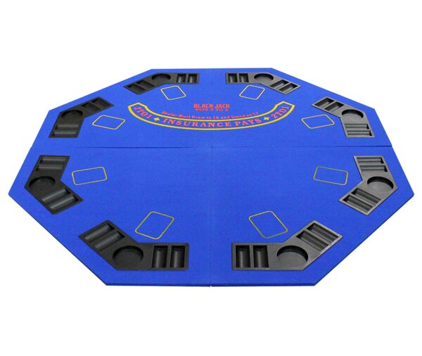 New Design 4 Fold Octagon Poker Table Cover by JP Commerce