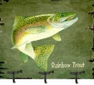 Trout Coat Rack Painting Print Plaque by Millwood Pines