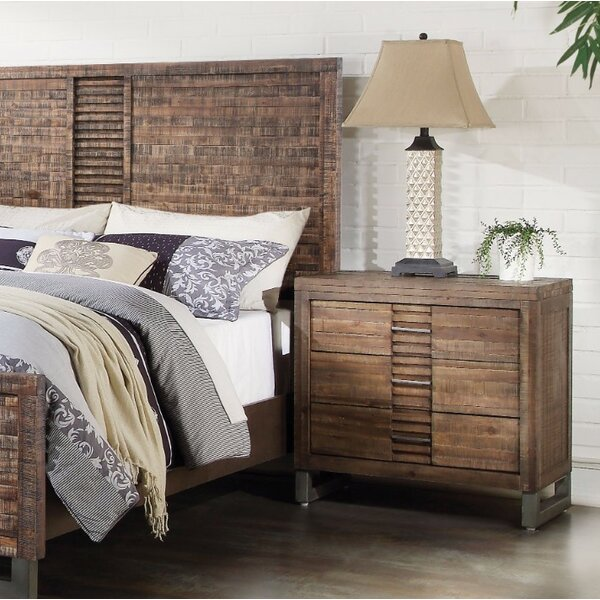 Lando Style 3 Drawers Nightstand by Union Rustic