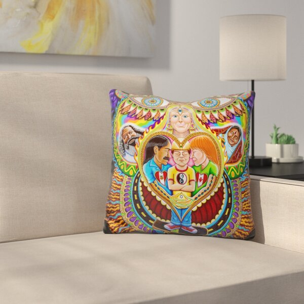 God of Healing Throw Pillow by East Urban Home