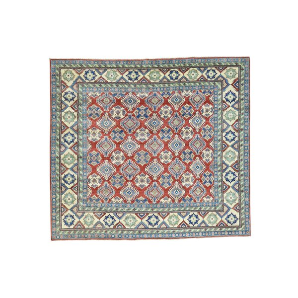 One-of-a-Kind Espada Tribal Squarish Hand-Knotted Red Area Rug by Millwood Pines