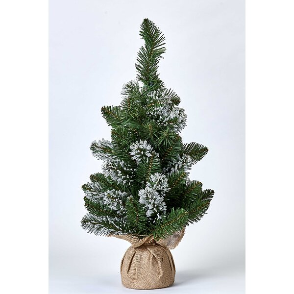 Burlap Sack 24 Green Pine Artificial Christmas Tree by Millwood Pines