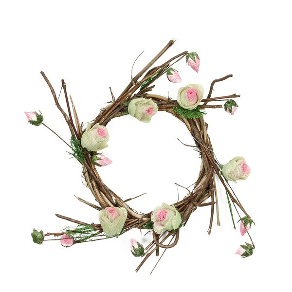 Decorative Artificial Spring Floral Twig Wreath - Unlit by Northlight Seasonal