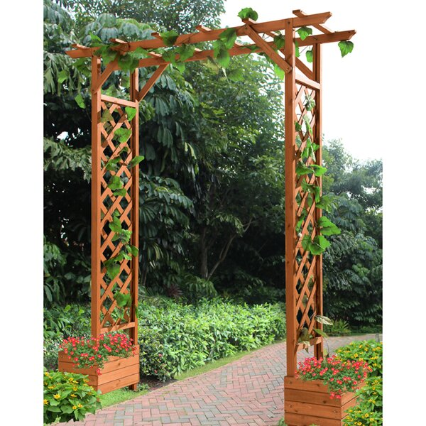 Mandy Trellis Wood Arbor by Sunjoy
