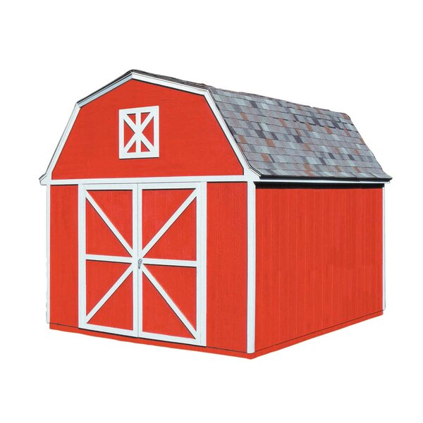 Berkley 10 ft. 10 in. W x 14 ft. 2 in. D Wood Storage Shed by Handy Home