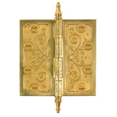 4.5 H × 4.5 W Butt/Ball Bearing Single Door Hinge by Brass Elegans