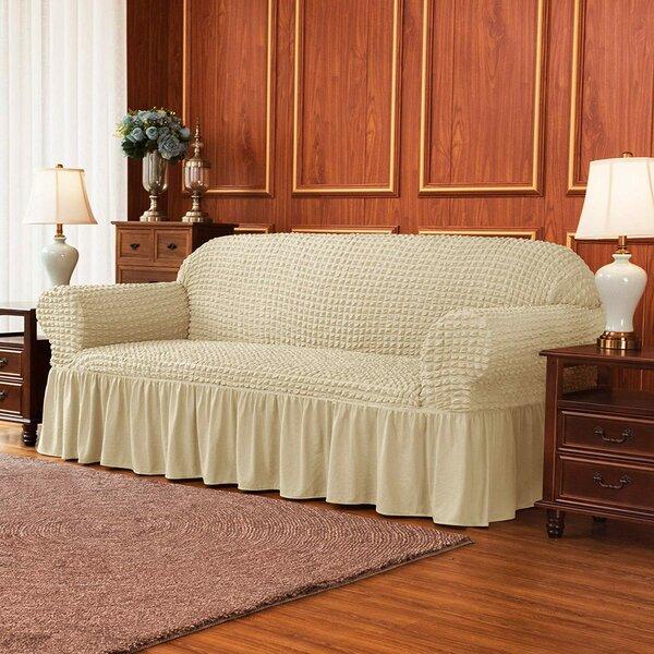 Ruffle Skirt Country Style Box Cushion Loveseat Slipcover. By Winston Porter