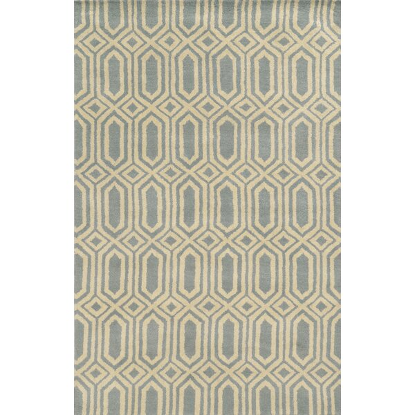 Bruges Hand-Tufted Lime/Charcoal Area Rug by Meridian Rugmakers