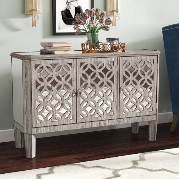 Montag 3 Door Mirrored Filigree Dresser by House of Hampton