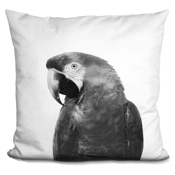 Kelling Parrot Throw Pillow by Wrought Studio