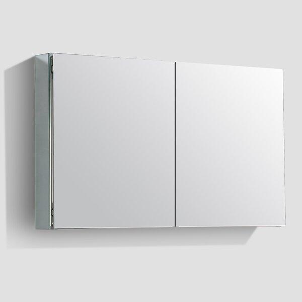 Jared 48 x 27 Surface Mount Medicine Cabinet with LED Lighting by Orren Ellis