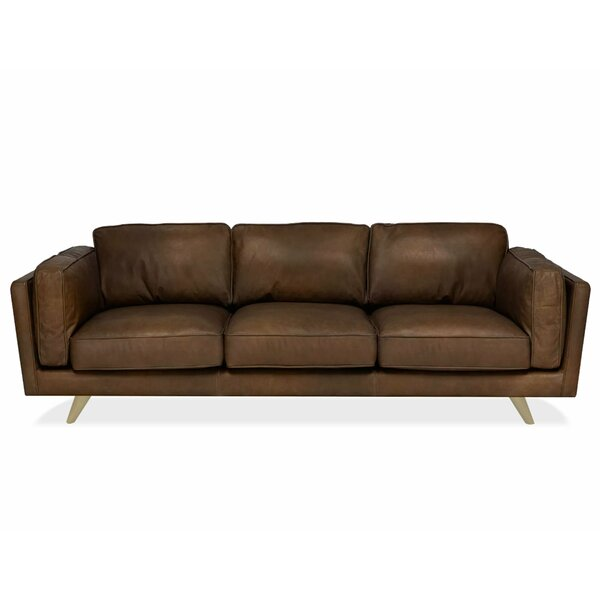 Seigle Leather Sofa By Foundry Select