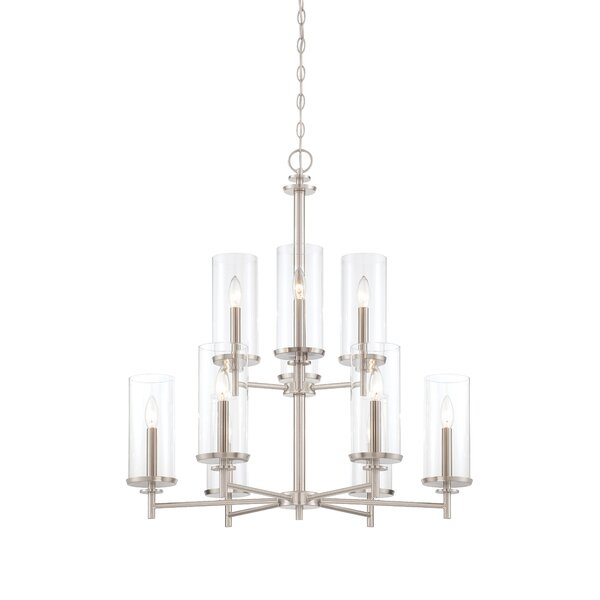Sikes 9-Light Shaded Tiered Chandelier by Wrought Studio Wrought Studio