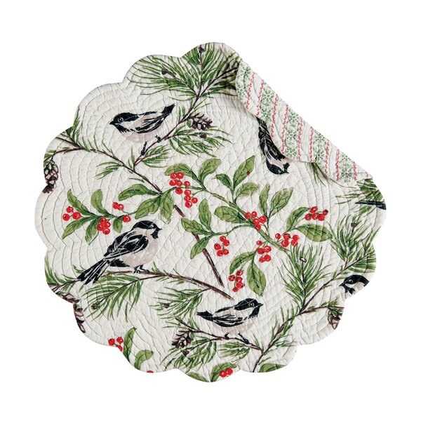 Chickadee Round Placemat (Set of 6) by C&F Home