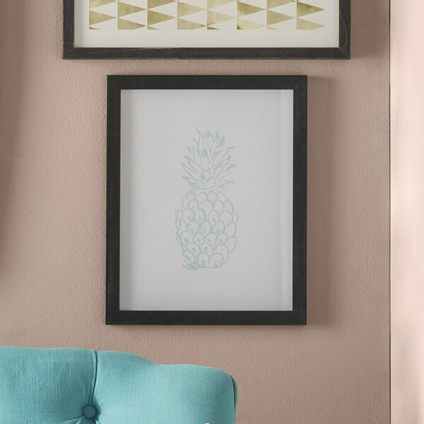 Pineapple Framed Graphic Art by Bay Isle Home
