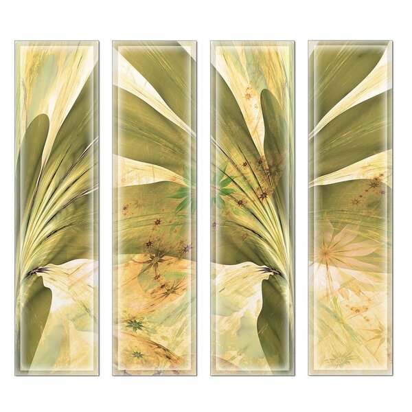 Crystal 3 x 12 Beveled Glass Subway Tile in Yellow/Green by Upscale Designs by EMA
