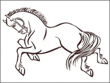 Horse 2 Wall Decal by Alphabet Garden Designs