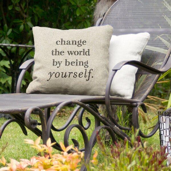 Change The World Indoor/Outdoor Throw Pillow