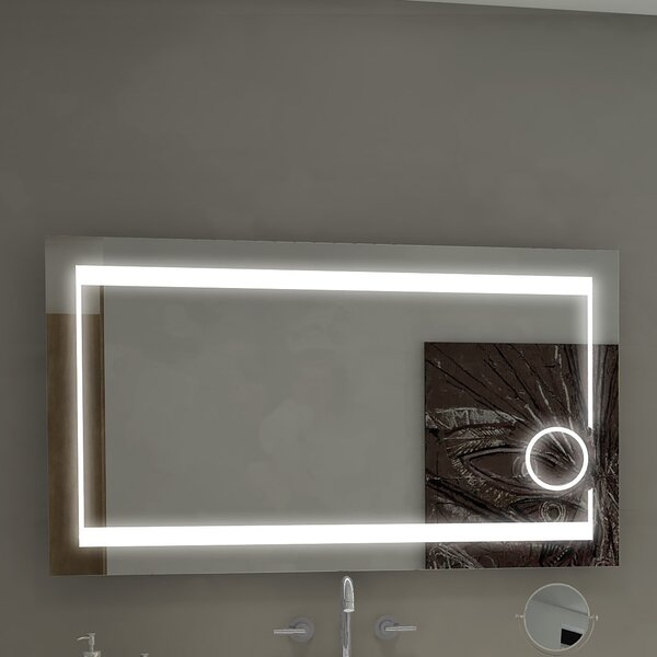 Aurora Illuminated Bathroom/Vanity Wall Mirror by Paris Mirror