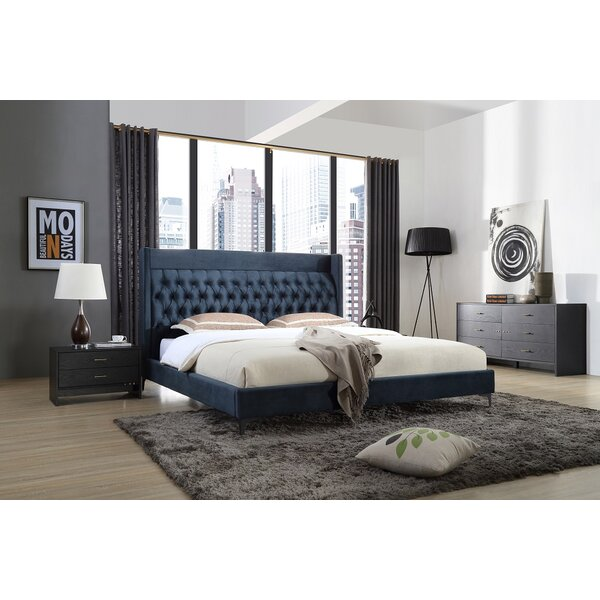 Manan Upholstered Platform Configurable Bedroom Set by Willa Arlo Interiors