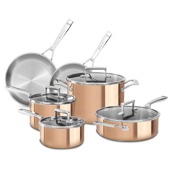 10 Piece Tri Ply Cookware Set by KitchenAid