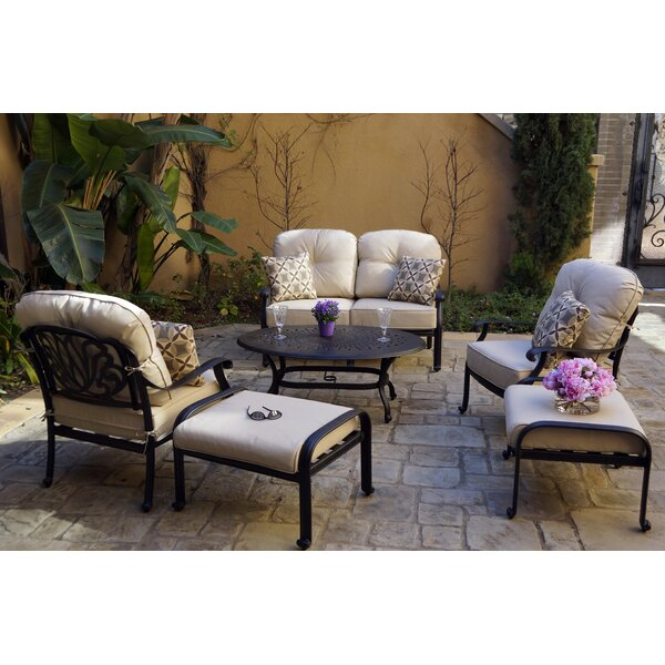 Burge 6 Piece Sofa Seating Group with Cushions by Canora Grey