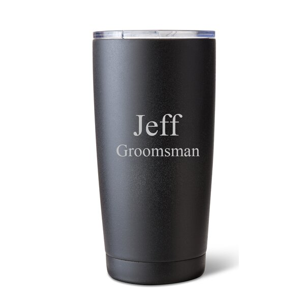 Stainless Steel 20 Oz. Double Wall Insulated Tumbler by JDS Personalized Gifts