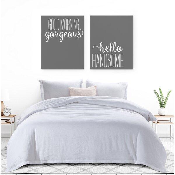 Brionna Hemstitched French Linen Reversible Duvet Cover Set