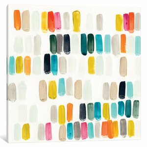 'Bright Swatches I' Painting Print on Wrapped Canvas by East Urban Home