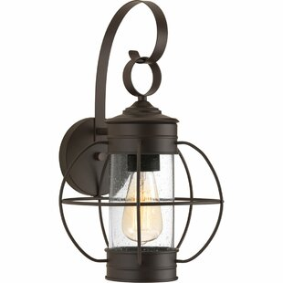 Reviews Nayeli 1-Light Metal Wall Lantern By Breakwater Bay