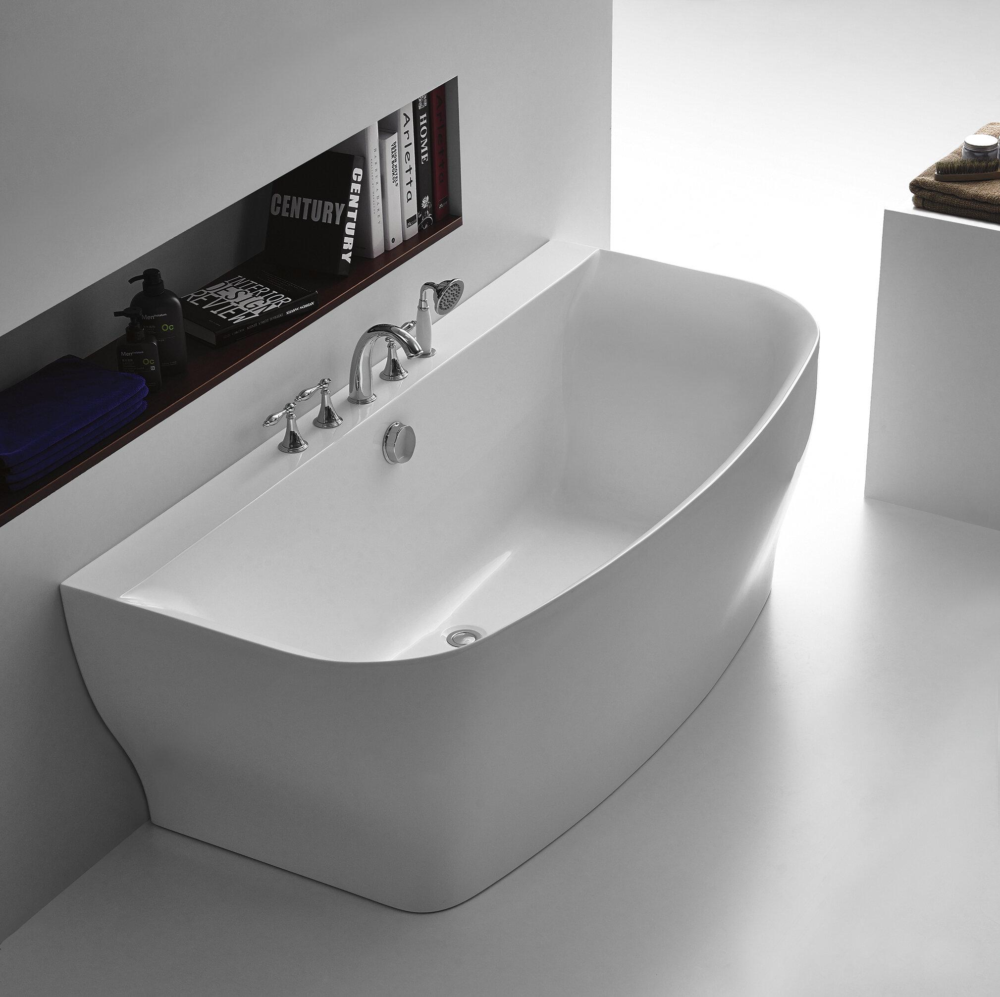 ANZZI Bank Series 65\'\' x 31\'\' Freestanding Soaking Bathtub | Wayfair
