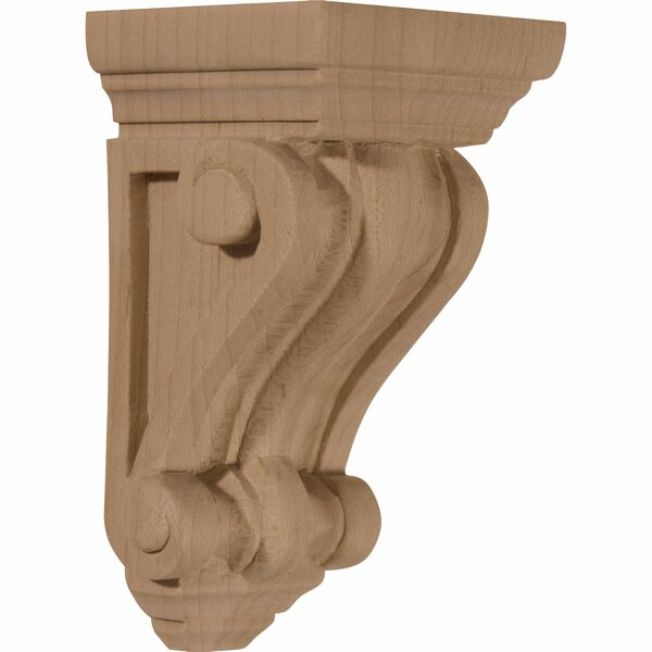 Devon Traditional 4 1/4H x 2 1/4W x 2 1/4D Wood Corbel in Rubberwood by Ekena Millwork