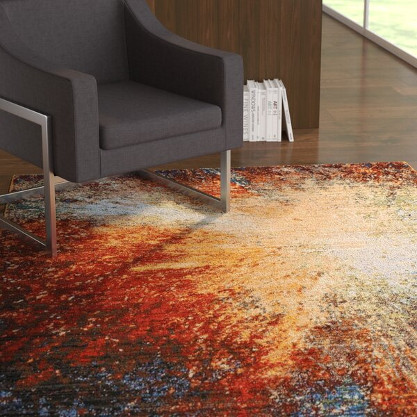 Ostby Red Flare Area Rug by Latitude Run