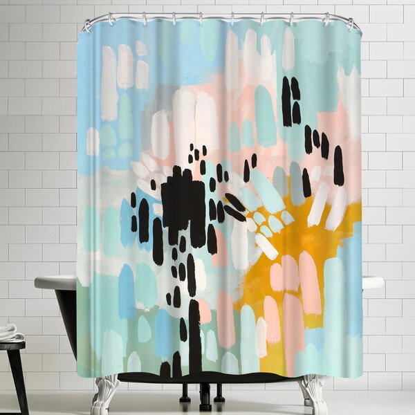 Annie Bailey Collisions Shower Curtain by East Urban Home