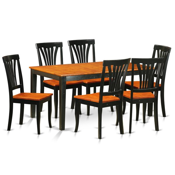 Pillar Traditional 7 Piece Dining Set by August Grove