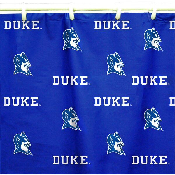 NCAA Duke Cotton Printed Shower Curtain by College Covers