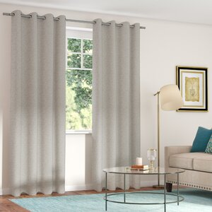 Etelvina Solid Room Darkening Grommet Curtain Panels (Set of 2)