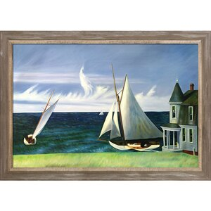 'Lee Shore 1941' by Edward Hopper Painting Print on Canvas by Tori Home