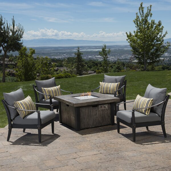 Portsmouth 5 Piece Conversation Set with Cushions by Darby Home Co