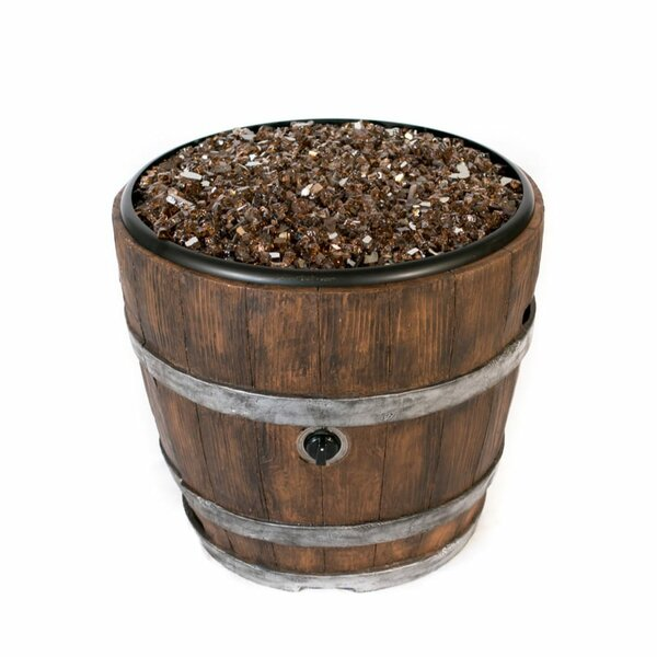 Wine Barrel Natural Vent Chat Fire Pit by Tretco