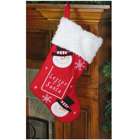 The holiday aisle embroidered snowmen letter to santa christmas embroidered snowmen letter to santa christmas stocking spiritdancerdesigns Gallery