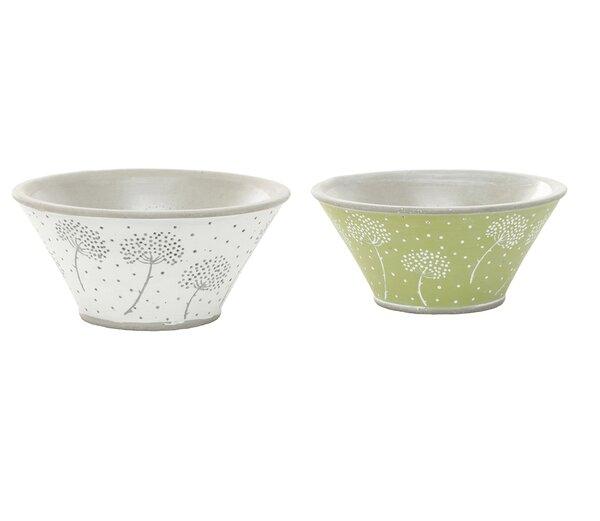 Haskett Dandelion Bowl 2-Piece Pot Planter Set by Ebern Designs