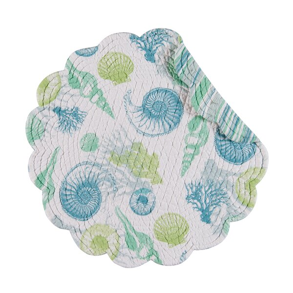 Ostrander Reversible Round Cotton Quilt Placemat (Set of 6) by Beachcrest Home