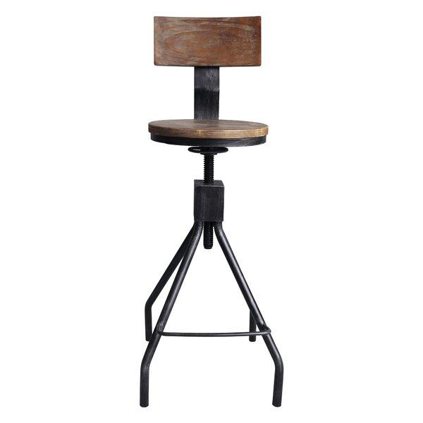 Bolden Adjustable Height Swivel Bar Stool by Williston Forge