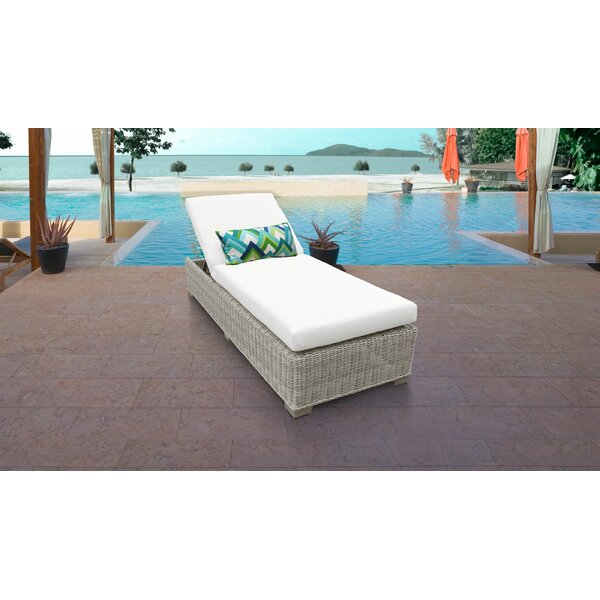 Claire Reclining Chaise Lounge with Cushions