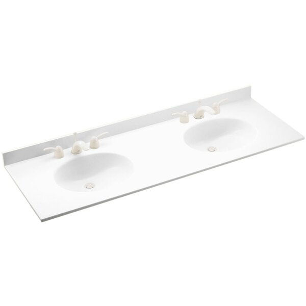 Ellipse 61 Double Bathroom Vanity Top by Swan Surfaces
